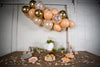 Grey and Peach Boho Party with Balloon Garland