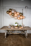 Grey and Peach Boho Chic Party Decor
