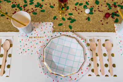 Merry and Bright Holiday Party Place Setting