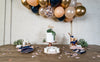 Navy Blush and Rose Gold Party Setup