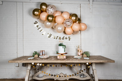 Gold Foil Happy Birthday Party Banner