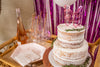 Bachelorette Party Dessert Table and Tableware