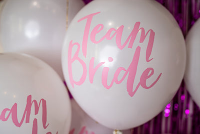 Pink Team Bride Balloons