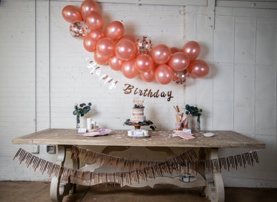 Purple and Rose Gold Birthday Party Kit