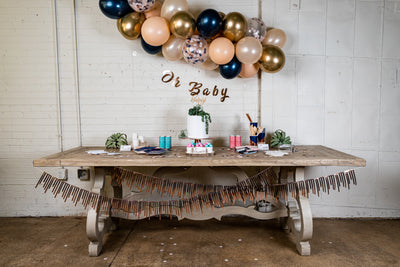 Navy Blush and Rose Gold Baby Shower Decor