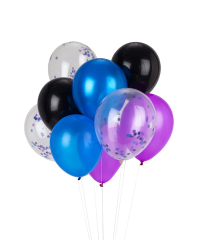 Space Party Balloon Bouquet with Confetti