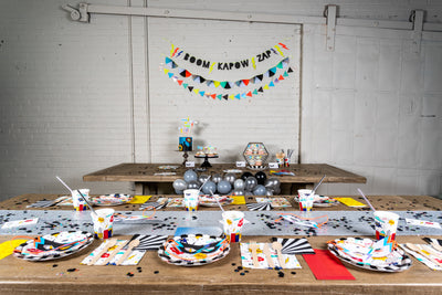 Super Hero Party Decor and Place Settings
