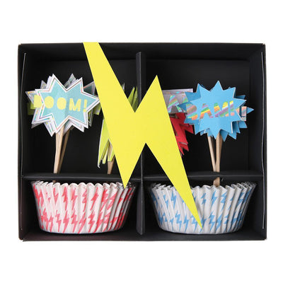 Super Hero Cupcake Kit with Toppers
