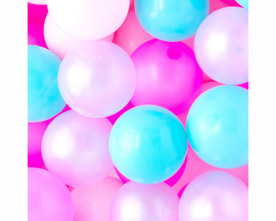 pastel mini party balloons
