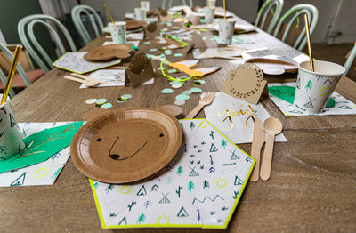 Woodland Adventure Party Table Setting