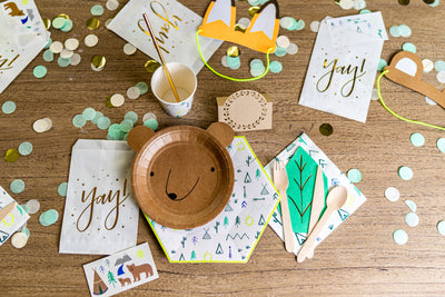 Woodland Adventure Party Plates and Napkins