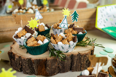 Woodland Party Animal Cupcake Toppers