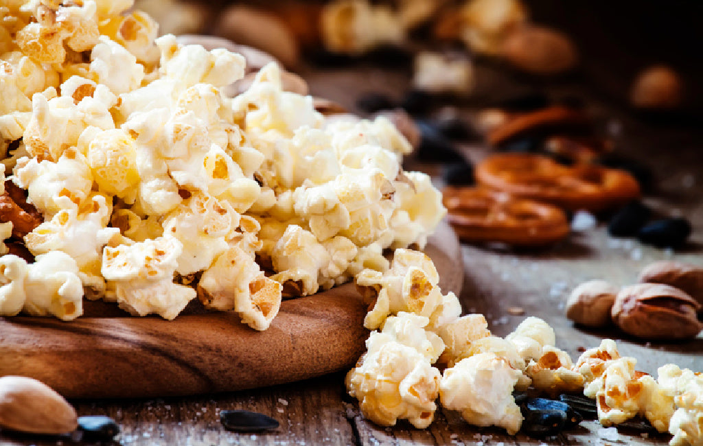 sweet and salty spiced CBD popcorn