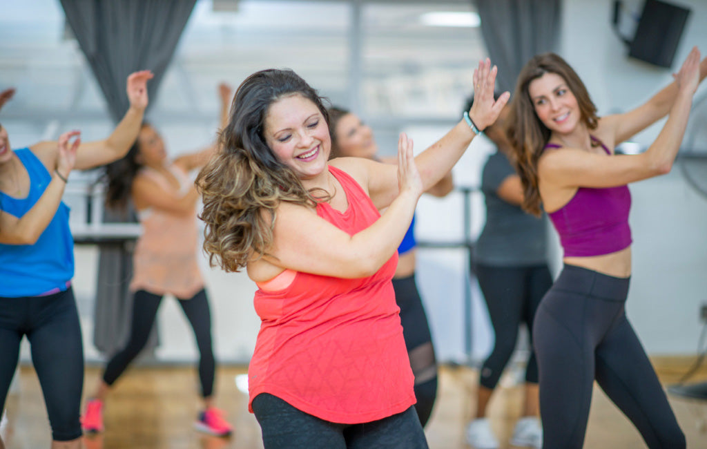 women in dance exercise class