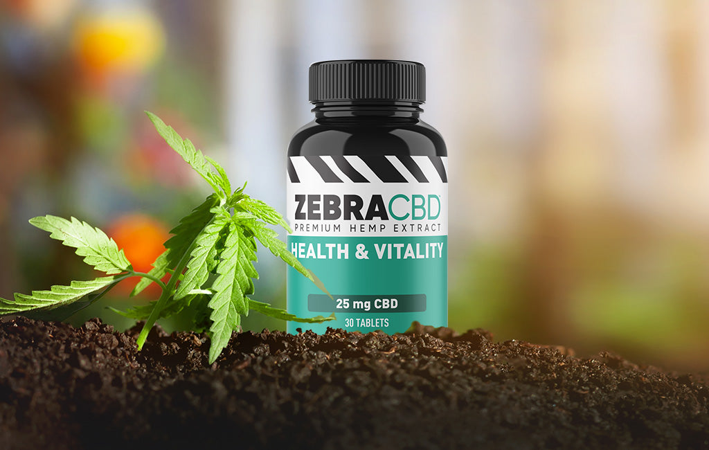 zebra cbd health and vitality tablets in hemp garden