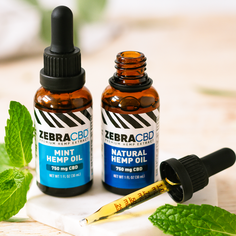 Zebra CBD Full Spectrum Hemp Oil with mint oil