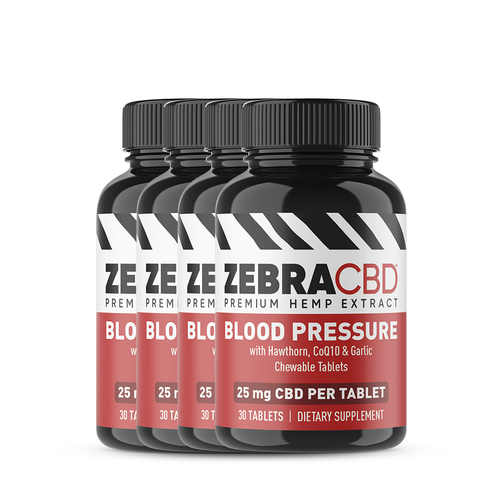 Zebra CBD Blood Pressure Tablets 4-pack
