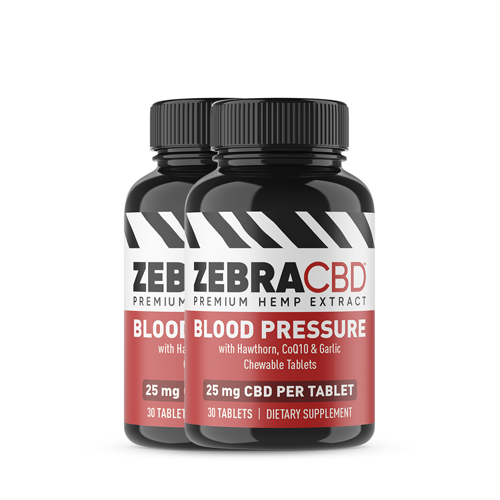 Zebra CBD Blood Pressure Tablets 2-pack