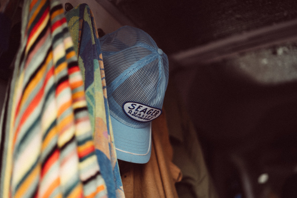 Old Town All Mesh Snapback Blue