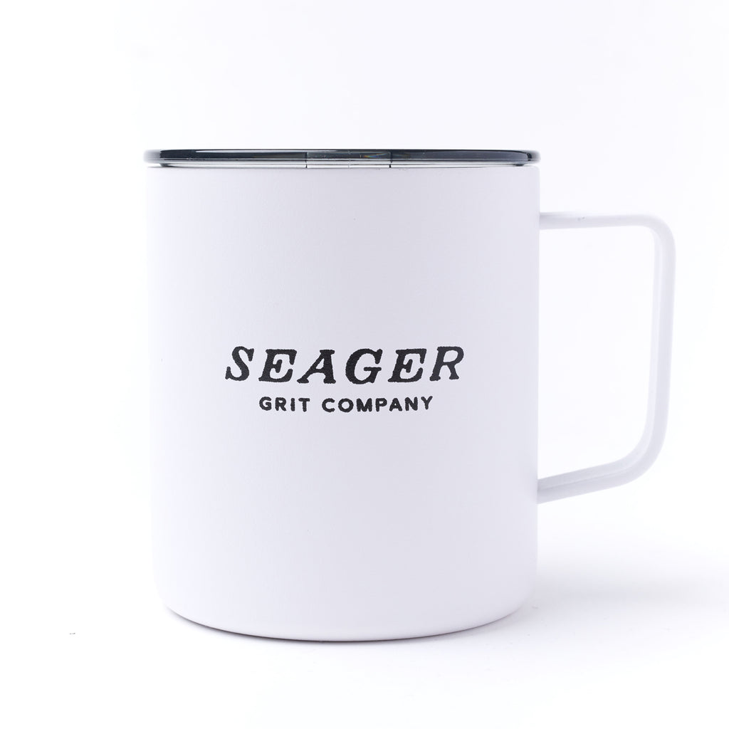 14oz Steel Camp Mug White