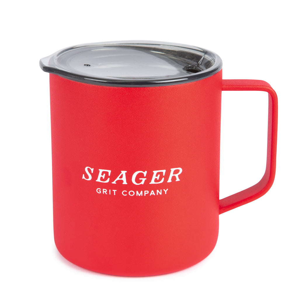 14oz Steel Camp Mug Red