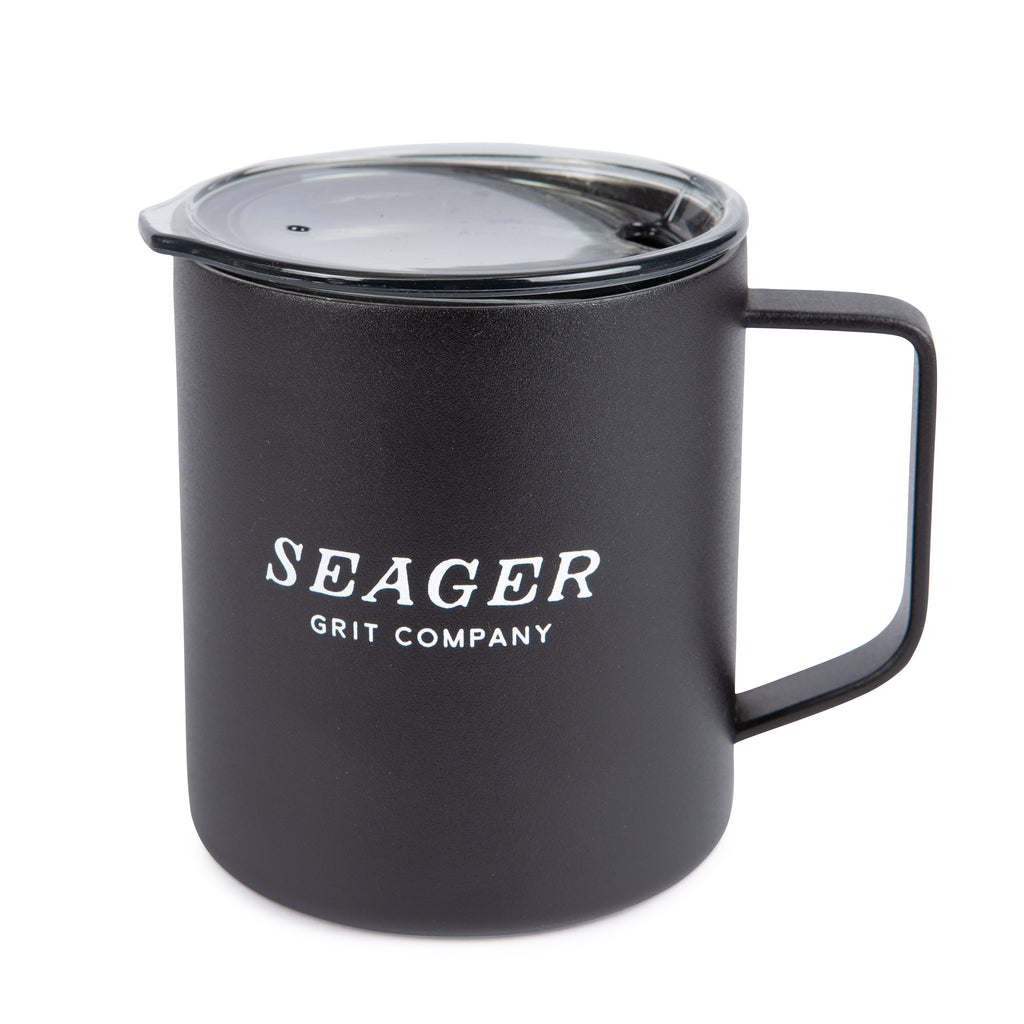 14oz Steel Camp Mug Black