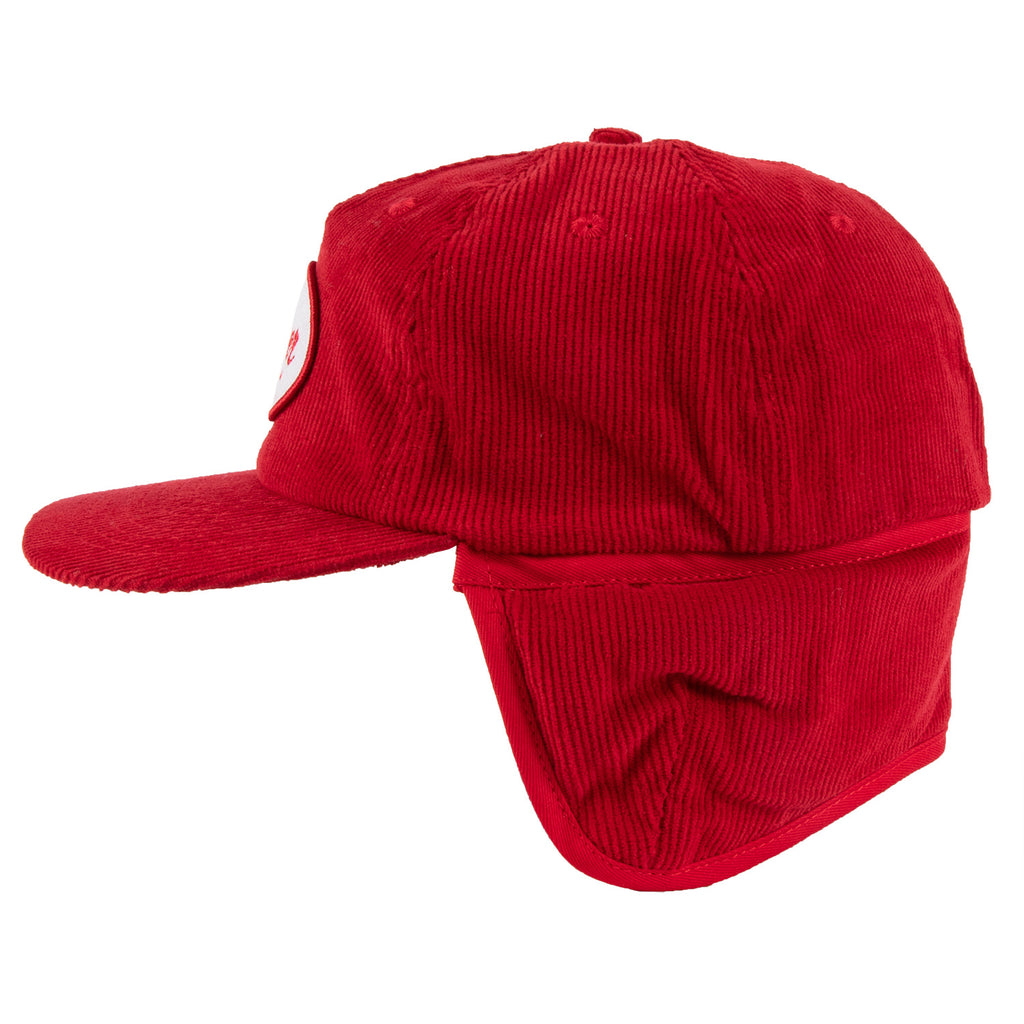 Flapjack Corduroy Ear Flap Cap Red
