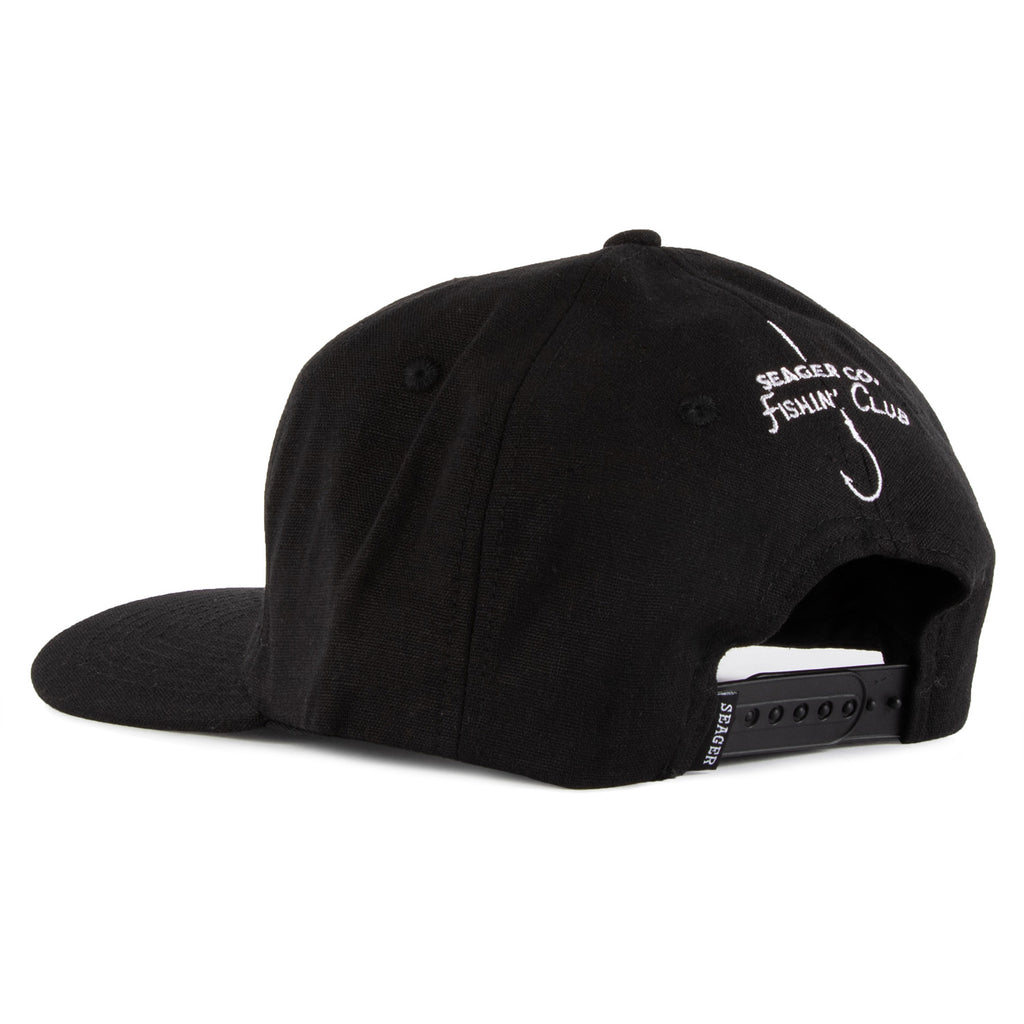 Fishin' Club Hemp Snapback Black