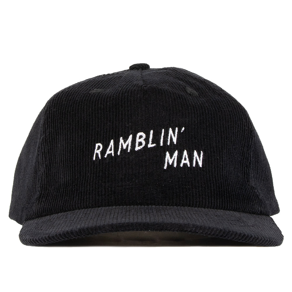 Ramblin' Man Corduroy Snapback Black