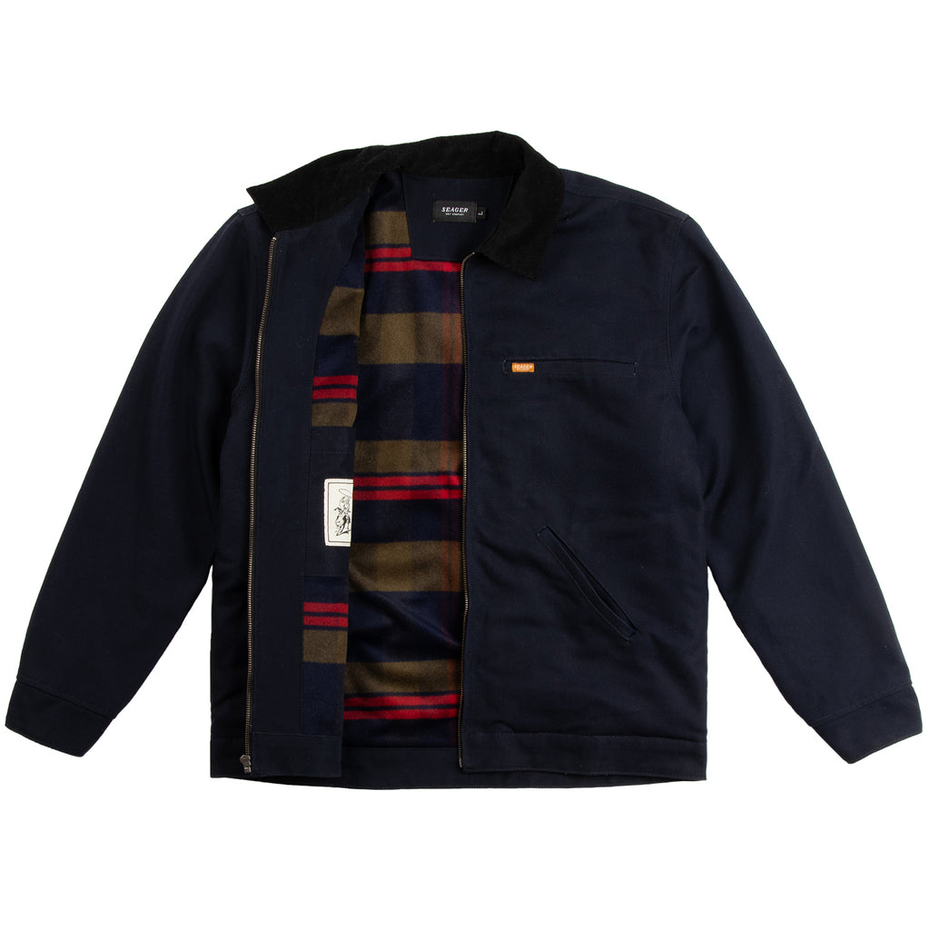 Ranch Jacket Navy/ Flannel lined