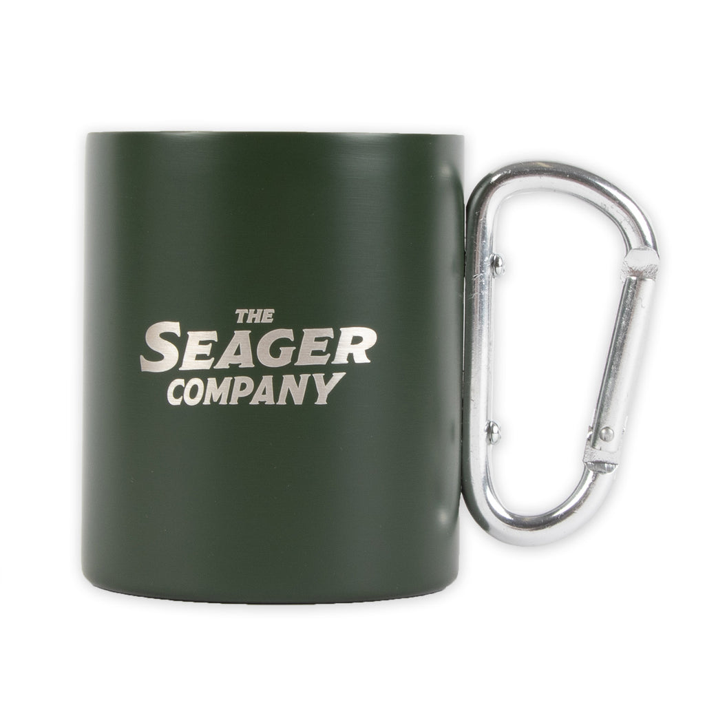 10oz Carabiner Camp Mug Green