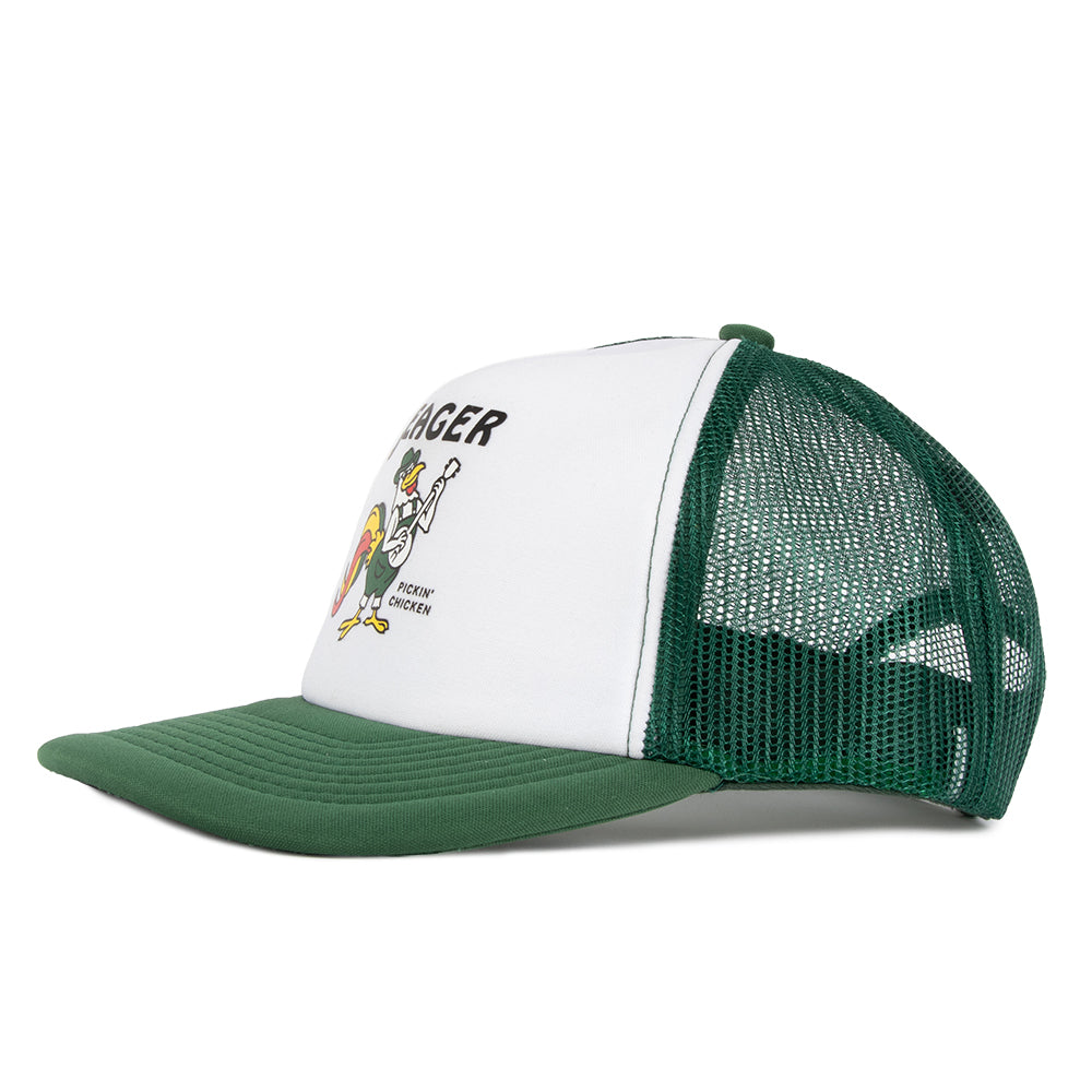Pickin' Chicken Foam Mesh Snapback Green