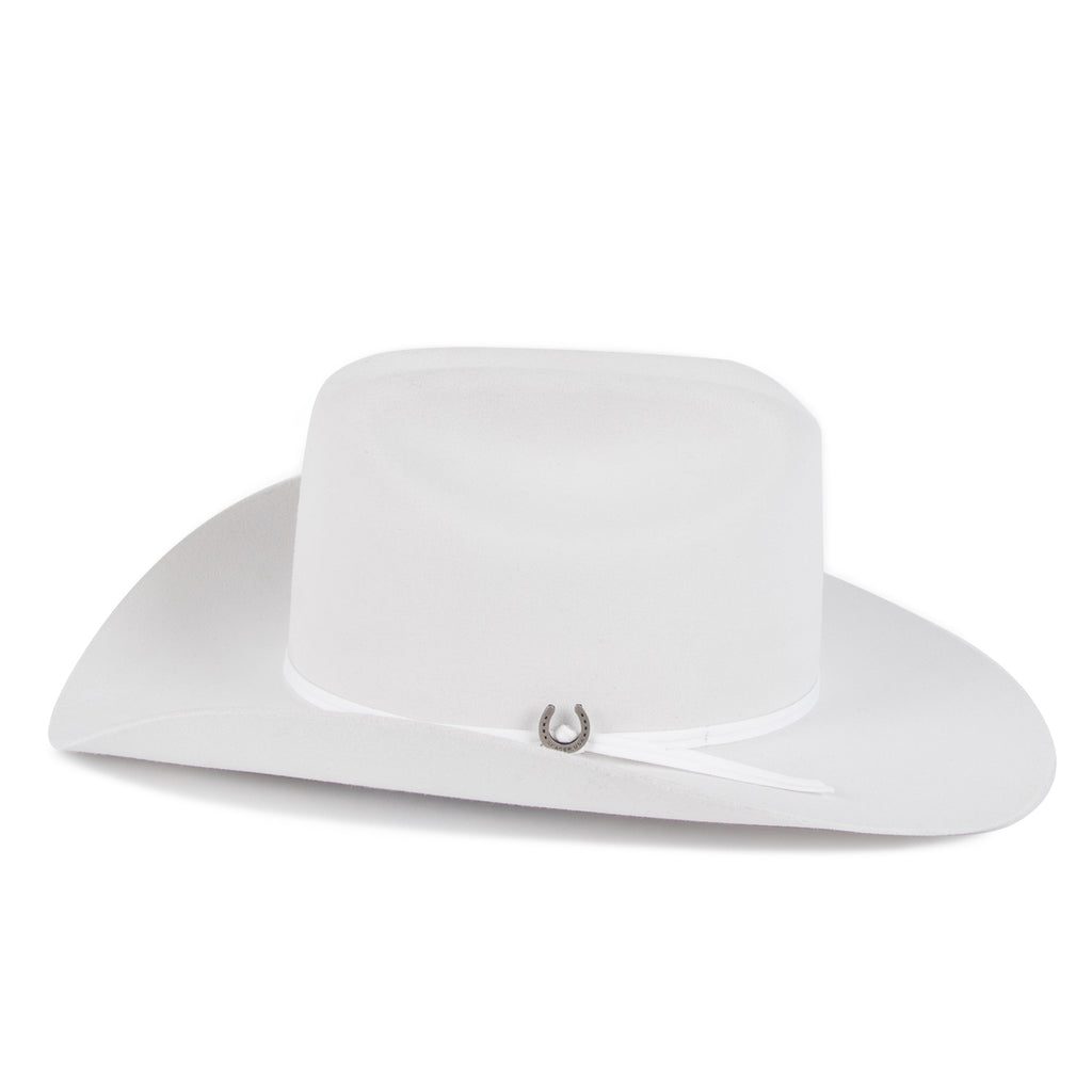 Longhorn 4X Hat Bone White