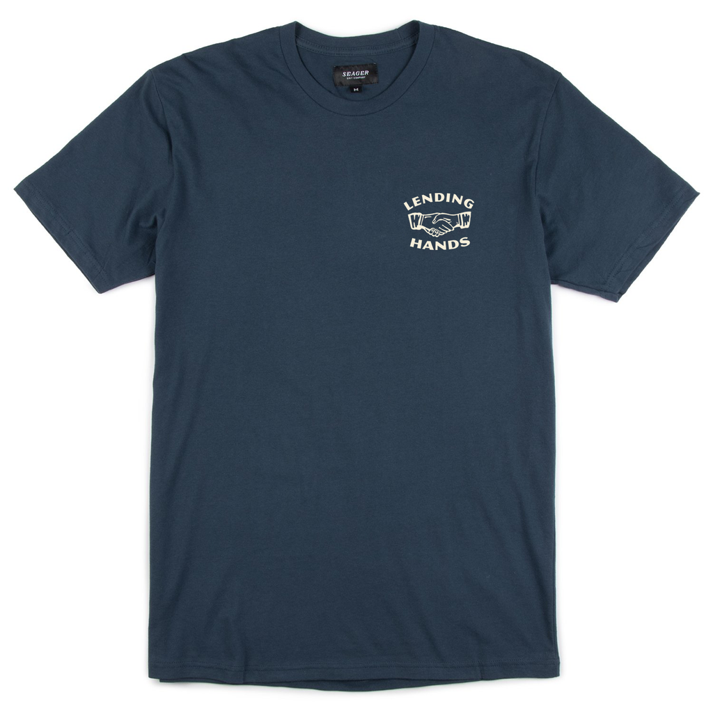 Co.mmunity 'Lending Hands' Tee Navy