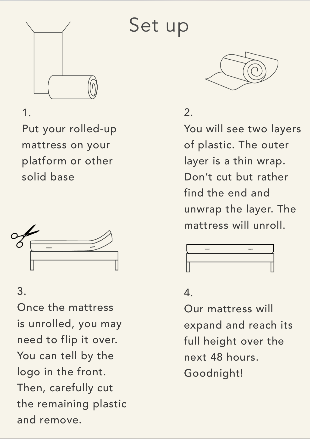 Real Bed Unpacking Instructions