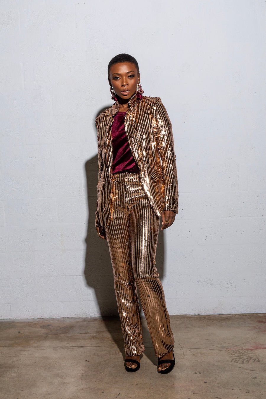 Gold Highlight Sequin Suit