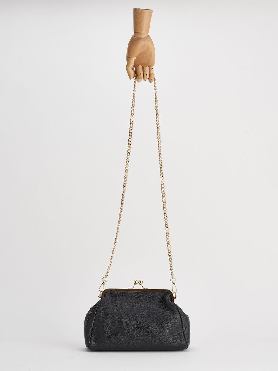 """Vivi"" Snap Purse, Nero."