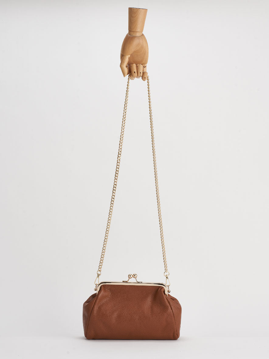 """Vivi"" Snap Purse, Cuoio."