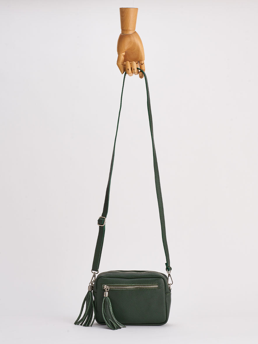 Sofia Cross-Body Shoulder Bag, Verde.