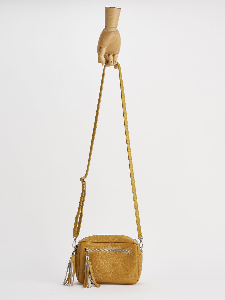 Sofia Cross-Body Shoulder Bag, Zafferano