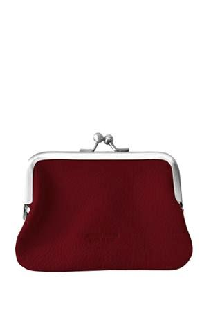 Leather 'Piccolo' Purse, Rosso