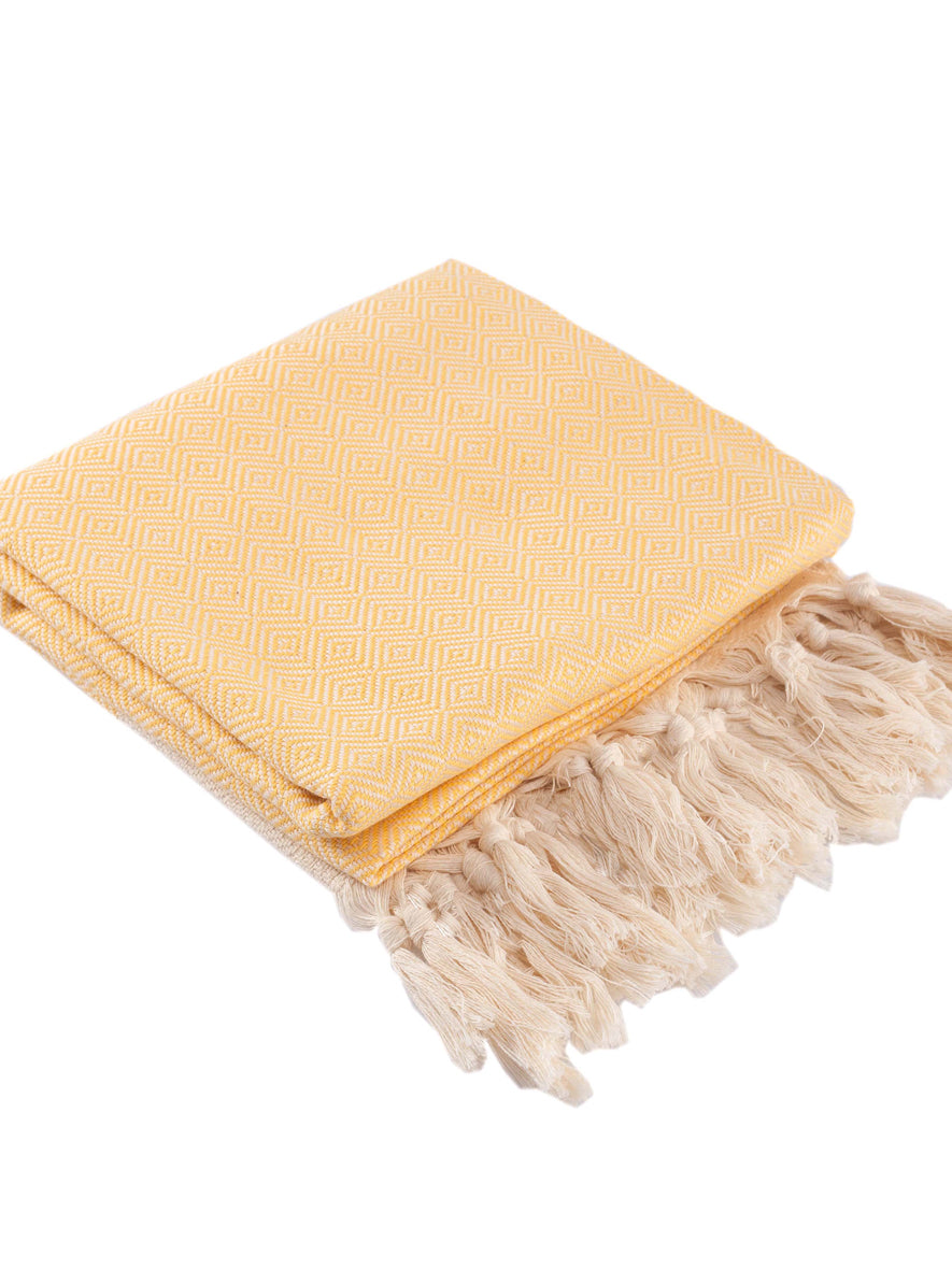 Diamond Peshtemal Towel, Yellow