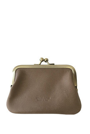 Leather 'Piccolo' Purse, Cappuccino