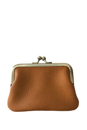Leather 'Piccolo' Purse, Cuoio