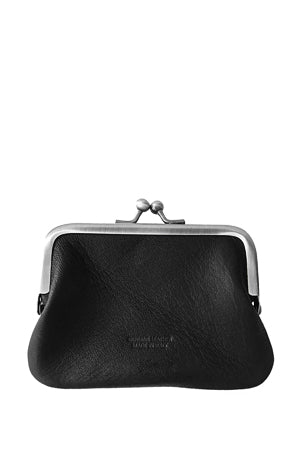 Leather 'Piccolo' Purse, Nero