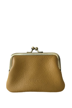 Leather 'Piccolo' Purse, Zafferano