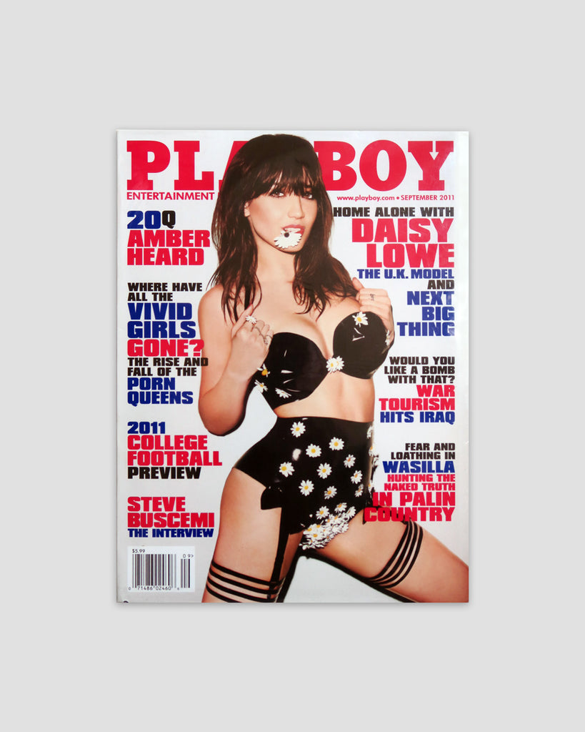 Playboy Magazine Daisy Lowe Cover, September 2011
