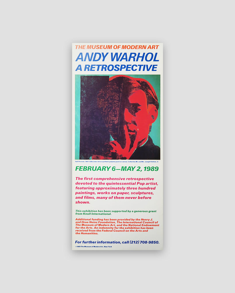 Andy Warhol: A Retrospective MoMA Exhibition Card, 1989