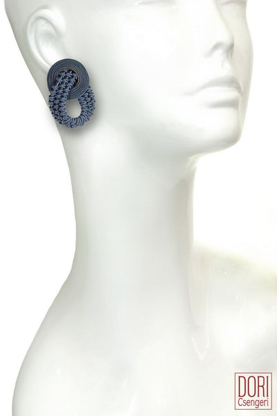 Amelie Unique Petrol Blue Earrings