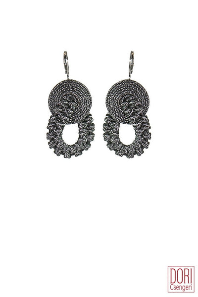 Amelie Elegant Old SIlver Earrings